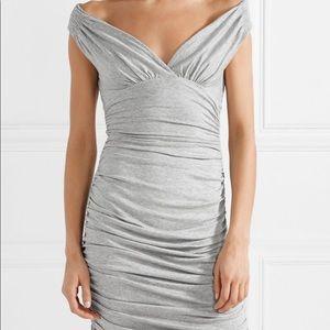 Norma Kamali Net A Porter Grey Jersey Dress L